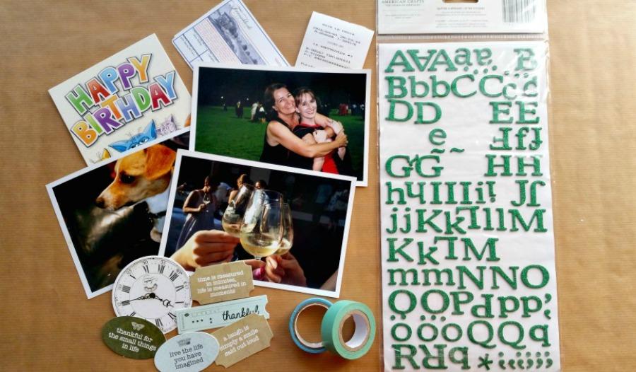 diy smashbook scrapbook journal embellishments photos memorabilia