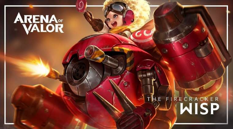 Review Hero Wisp The Firecraker Arena of Valor (AoV)