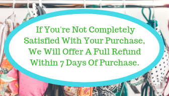 Sales promotion refund policy example with the captions:  If You're Not Completely Satisfied With Your Purchase, We Will Offer A Full Refund Within 7 Days Of Purchase.