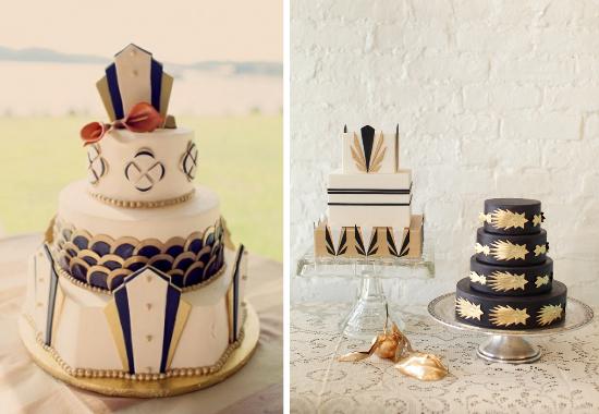 """vintage wedding cakes, matrimonio a tema """"Il Grande Gatsby"""""""
