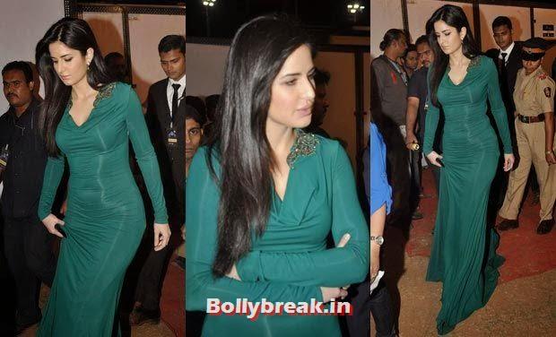Katrina Kaif in Green, Bollywood Celebs Style Check at Mumbai Police Umang 2014