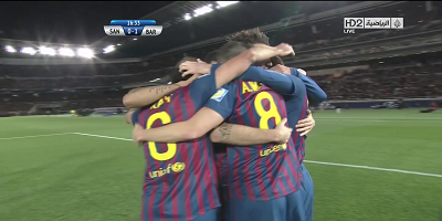 FIFA Club WC Final : Santos  0 vs 4 Barcelona 18-12-2011