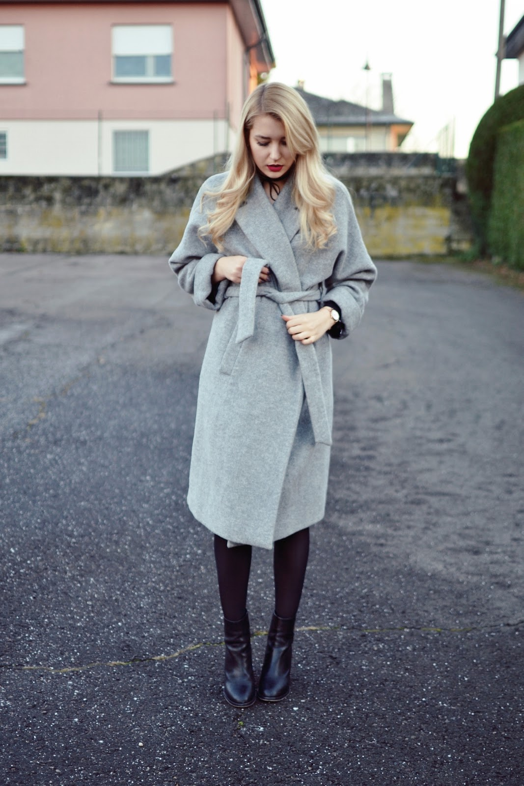 Zara wrap long coat