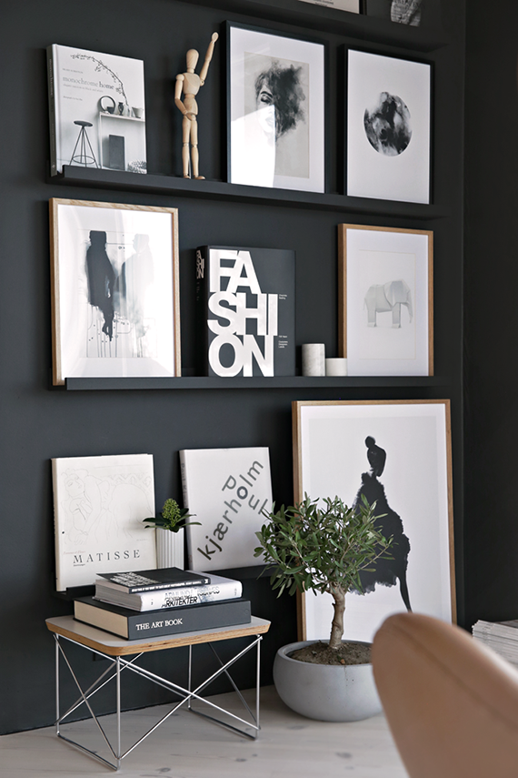 Black gallery wall | Stylizimo