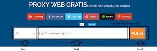 Membuka Situs dengan web Proxy