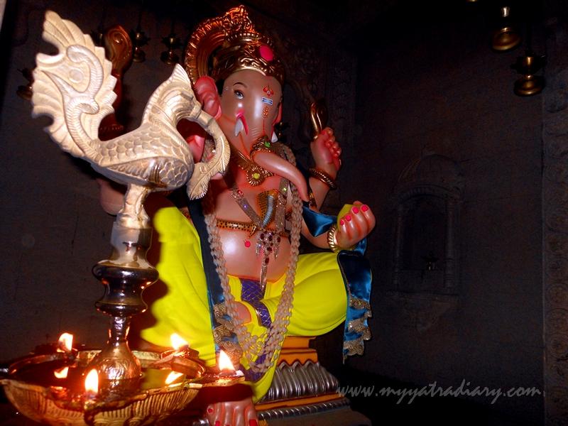 Human like Ganesha in Uttarakhand temple theme, Ganesh Pandal Hopping Mumbai