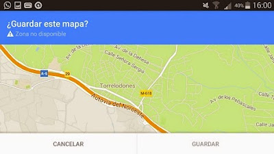 Descargar mapa en Google Maps