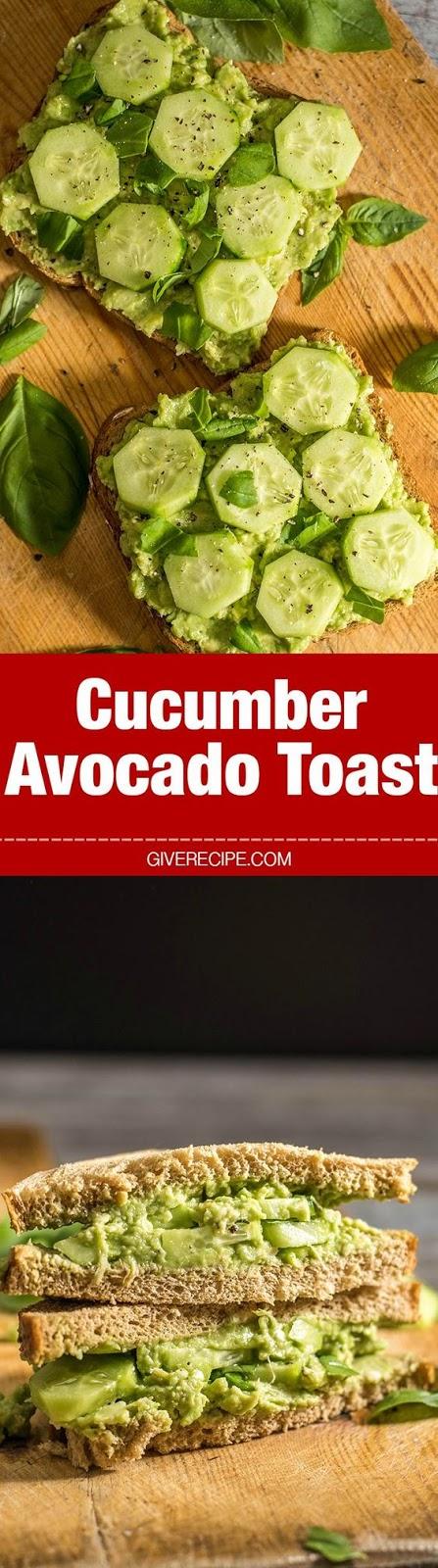 cucumber avocado toast