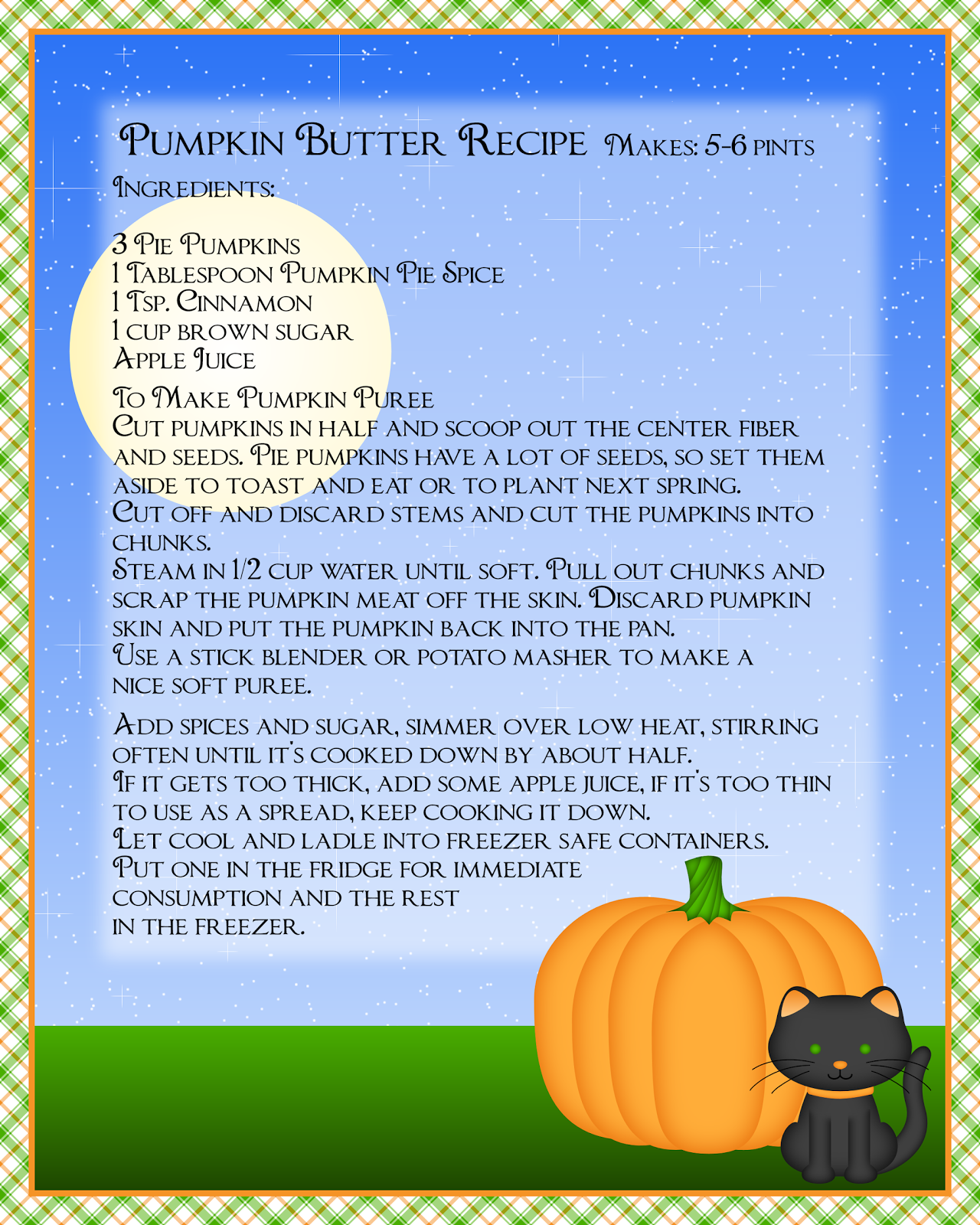 Don T Eat The Paste Pumpkin Butter Recipe And Printable Page