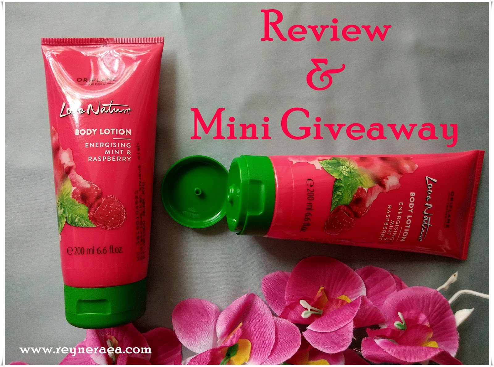 Review   Mini GiveAway  Love Nature Body Lotion Energising Mint   Raspberry cb28b23353