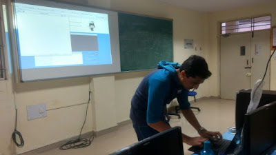 FOSS Wave visits FOSS Camp: Arvind Chembarpu teaches students about git merging and rebasing