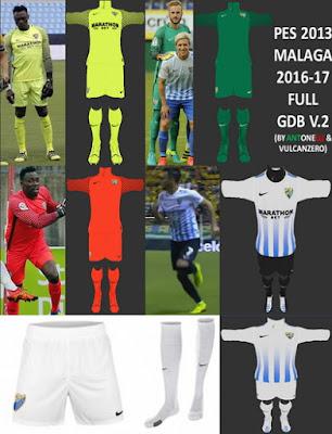 PES 2013 Malaga CF 2016-17 Full GDB V.2 BY ANTONELLI & VULCANZERO
