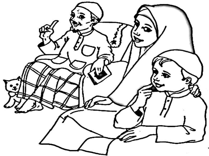 Gambar Mewarna Keluarga Bahagia Brad Erva Doce Info
