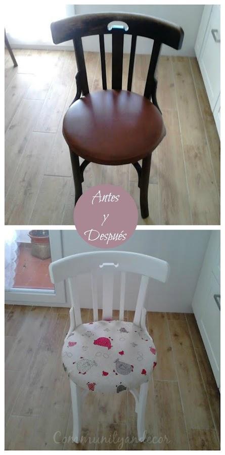 El antes y despues de una silla thonet reciclada