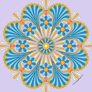 Happy Mandala with a blank version to print and color