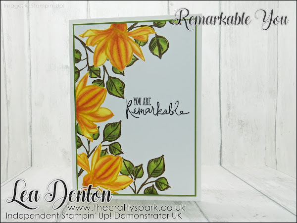 Stampin' Up! Remarkable You Stampin' Blends Mango Calla Lily Card