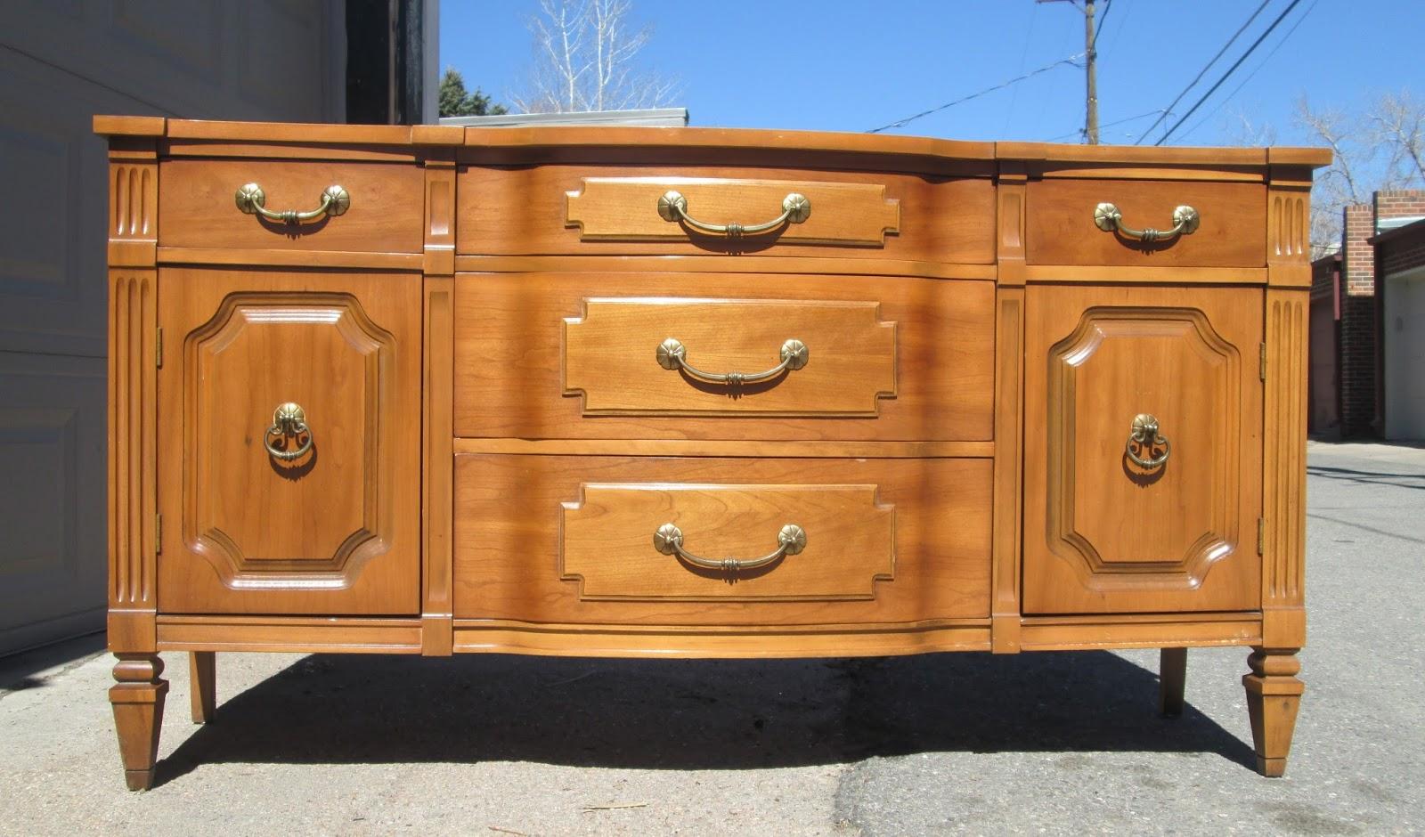 Boho Chic 8 Vintage Curved Dresser Buffet Sideboard