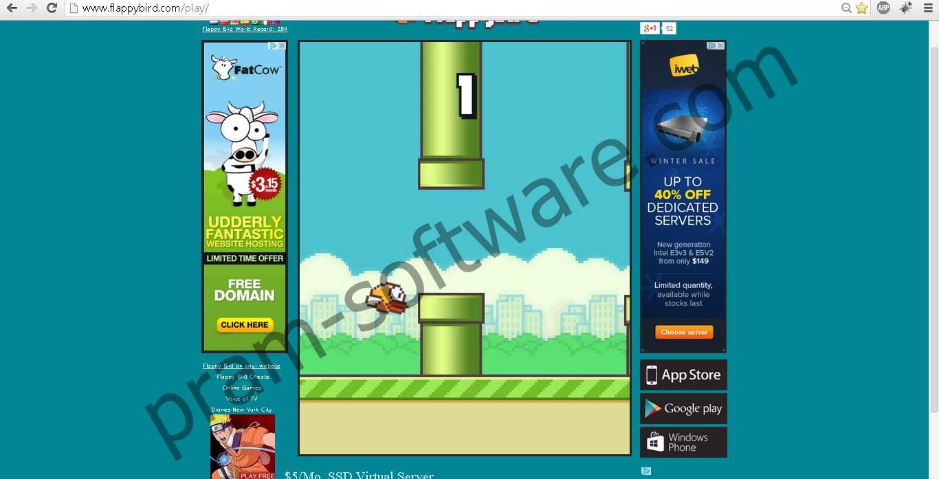 Memainkan Game Flappy bird di PC