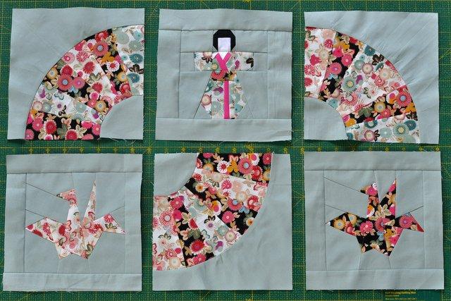 japoński patchwork geisha  quilt