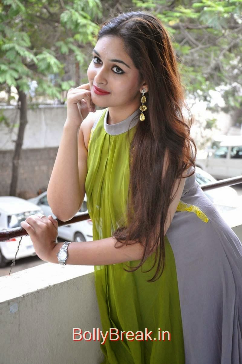 Prayaga Martin Stills, Actress Prayaga Martin Hot HD Images in Green dress