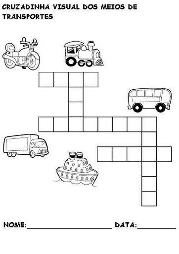 Atividades Sobre Meios De Transporte Atividades Pedagogicas