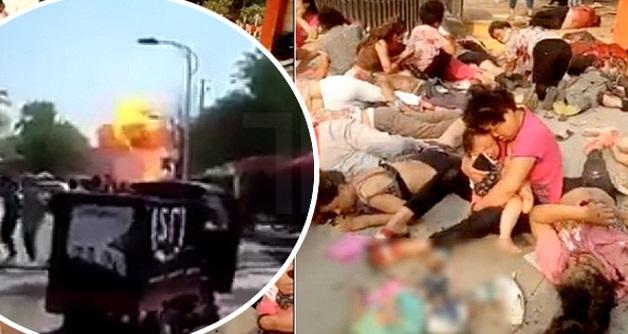 7 maut, 66 cedera dalam letupan di depan tadika