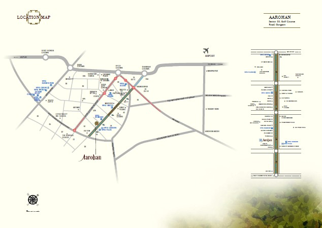 Location map - Vipul Aarohan