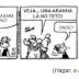 UNESP 2017: Questão 01 - Examine a tira Hagar, o Horrível do cartunista americano Dik Browne (1917-1989).