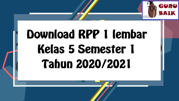 gambar download RPP kelas 5 semester 1