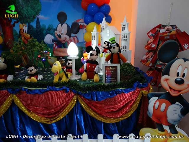 Decoração infantil tema Mickey Mouse - Festa de aniversário - Mesa luxo