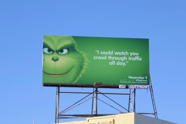 Grinch crawl traffic billboard