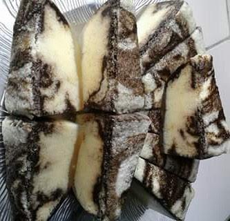resep pudding busa marmer