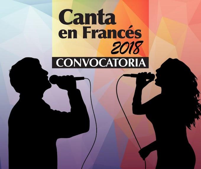 GRAN CONCURSO NACIONAL CANTA EN FRANCÉS  2018