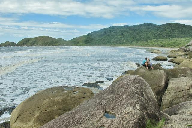 Praia do Miguel na Ilha do Mel no Paraná.
