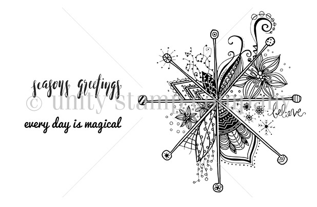 ScrappyScrappy: Magical Days - Unity Stamp #scrappyscrappy #unitystampco #stamp #stamping #christmas #papercraft #holiday
