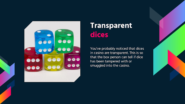 Transparent dices