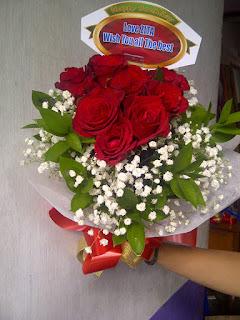 rangkaian bunga mawar super + babibreth