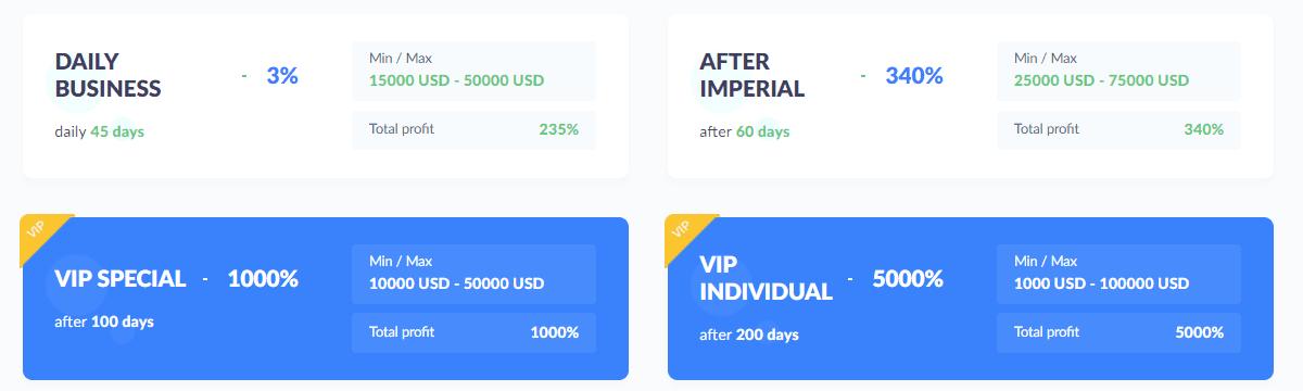 Инвестиционные планы Bitify 2