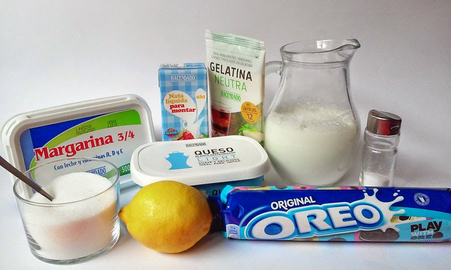 ingredientes tarta de oreo