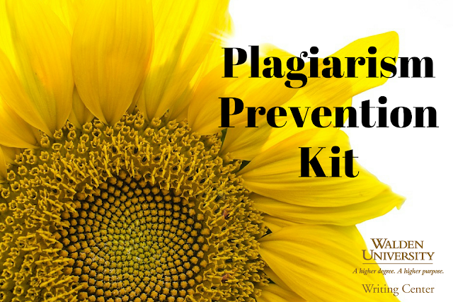 "A sunflower with the word ""Plagiarism Prevention Kit"""