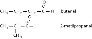 isomer struktur butanal