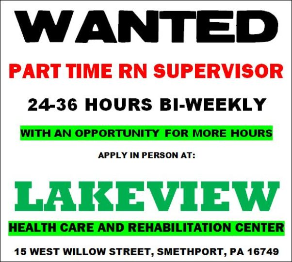 Solomons words for the wise Part Time RN Supervisor At Lakeview Health Care  Rehabilitation