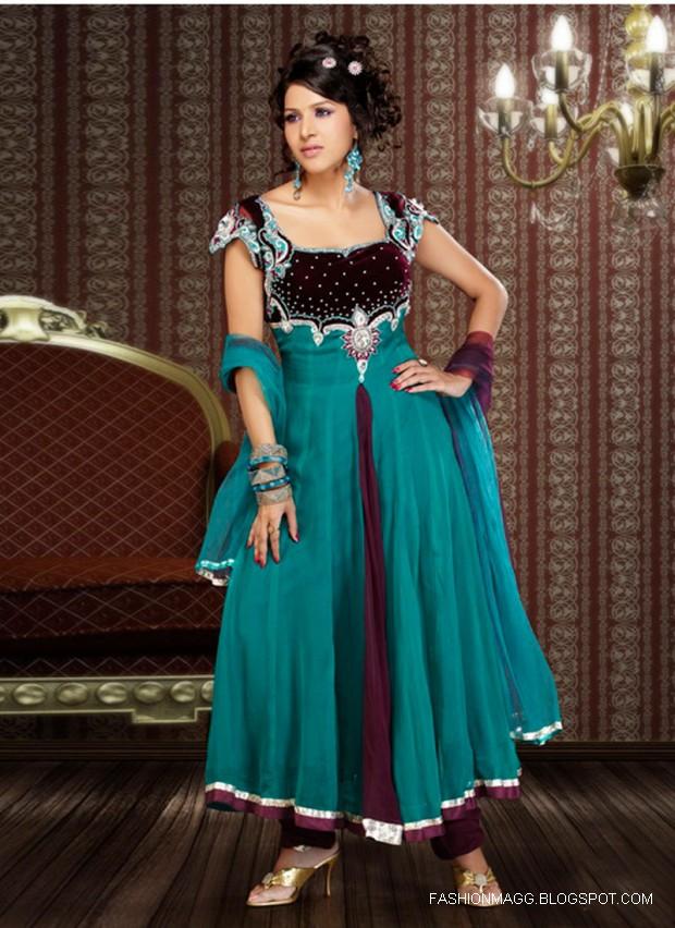 Fashion & Style: Anarkali New Latest Frocks Fancy Dress ...