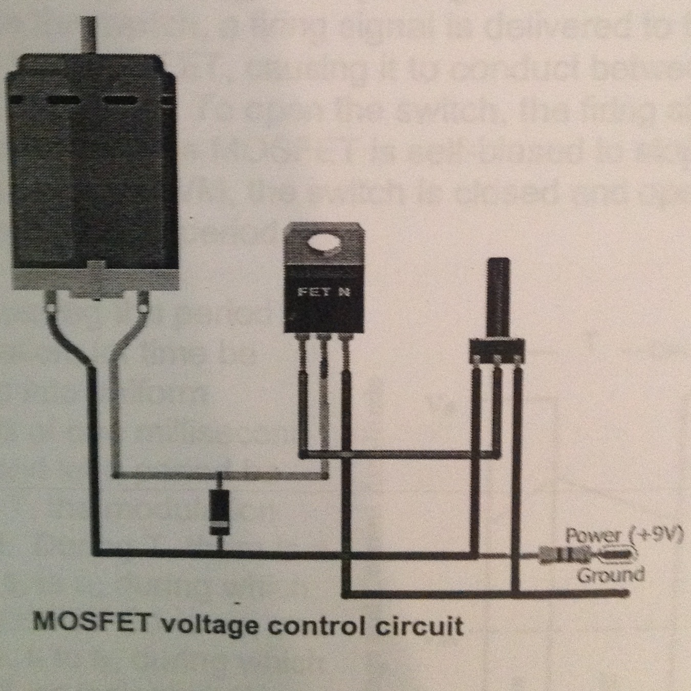 Mosfet Control Of An Electric Motor Engineering 44 Potentiometer Wiring Diagram Power Our Goal Was To Vary The Speed By Adjusting This Is First Circuit That We Studied