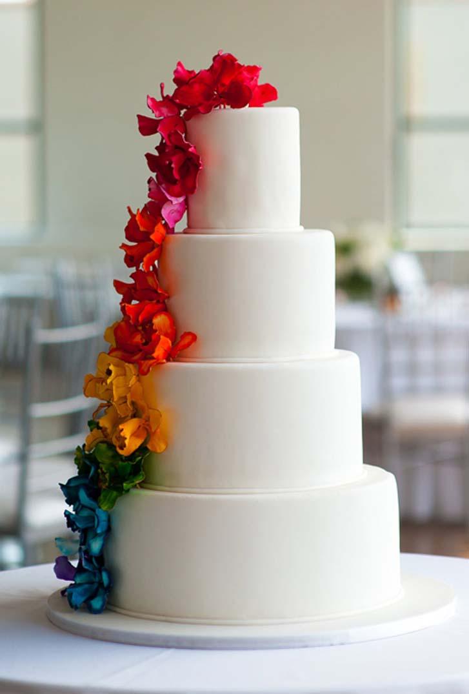Rainbow Wedding Cakes 4 Unique How chic is this