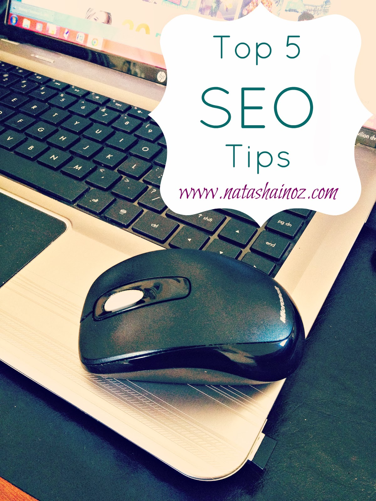 Say G'Day Saturday Linky Party ~ My top 5 SEO Tips - SEO image