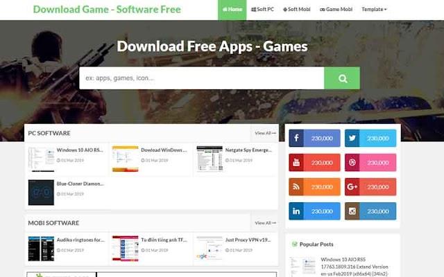 Template Blogspot APK Download 2019 - Giao diện blogger trang chia sẻ phần mềm