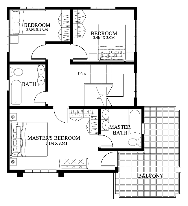 a two storey house plan is a low cost to build than a one - Home Design Blueprints