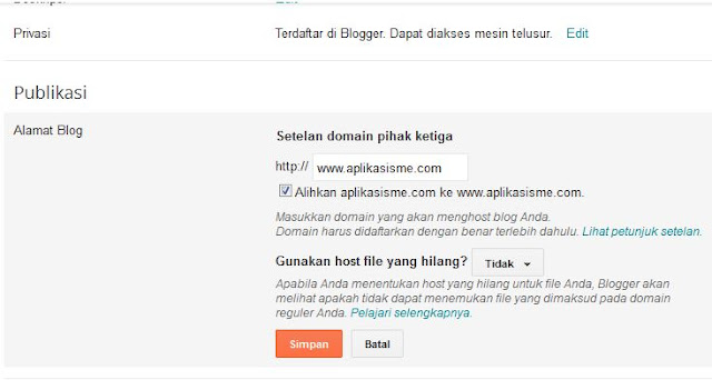 ganti domain blog, domain tld, ganti domain tld blog, domain blog, setting domain untuk blogger, setting domain blog