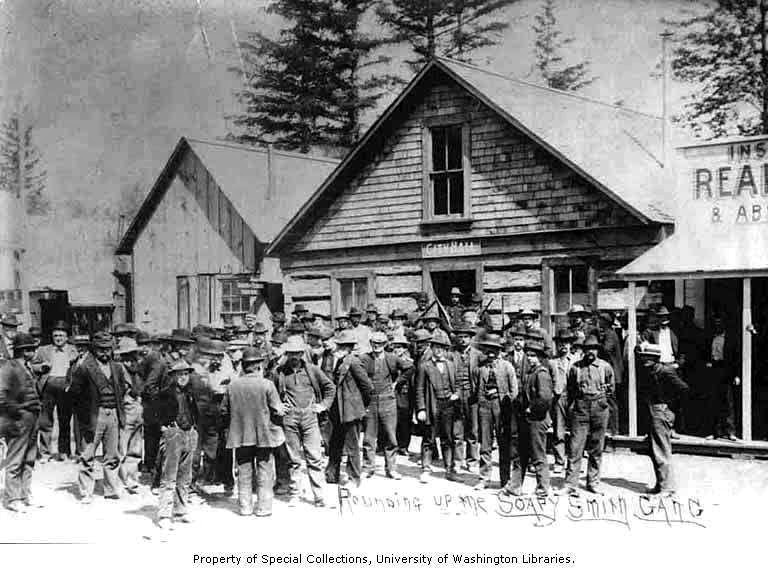 skagway men Pages in category skagway, alaska this category contains only the following page s  line of men and women waiting to receive mail at the post office, skagway,.